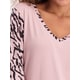 Womens Contrast Sleeve Knit Nightie