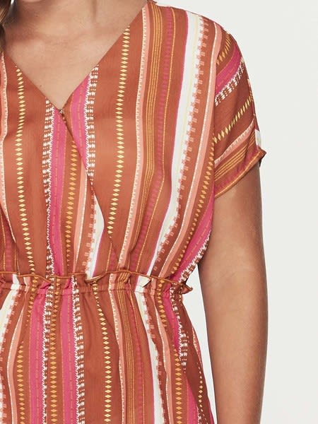 Miss Mango Stripe Playsuit