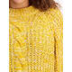 Womens Plus Cable Pullover