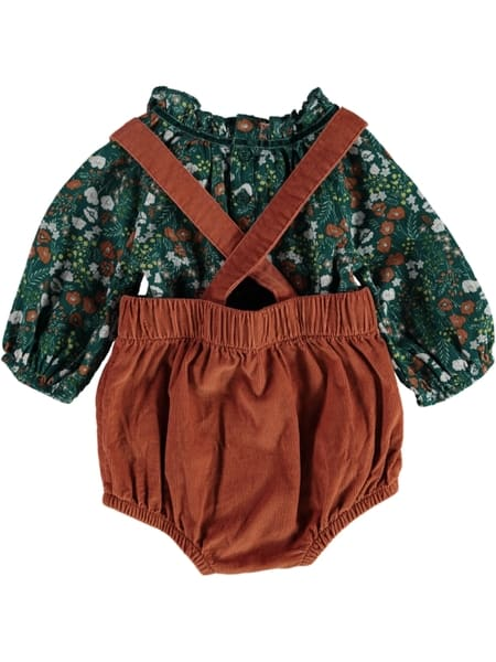 Baby Top And Shortall Outfit Set