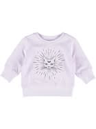Toddler Girls Print Fleece Sweater