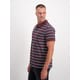 Mens Short Sleeve Stripe Polo