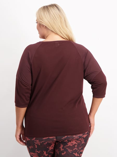 Womens Plus Active Raglan Sleeve Top