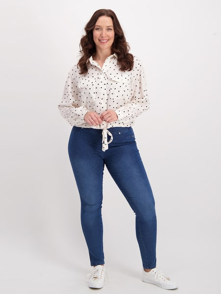 Womens Cropped Shirt