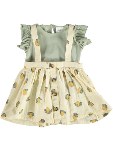 Baby Tee And Pinafore Outfit Set