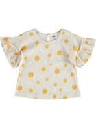 Baby Girls Yardage Print Tee With Ruffle Sleeves