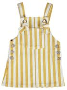 Toddler Girls Stripe Denim Pini