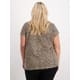 Womens Plus Slub Allover Print Tee
