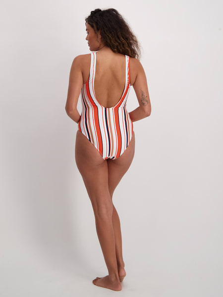 Womens Lace Up Textured One Piece