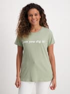 Womens Placement Print Cotton Tee