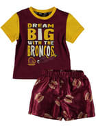 Broncos NRL Toddler Pj Set