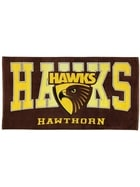 Hawks AFL Adult Beach Towel
