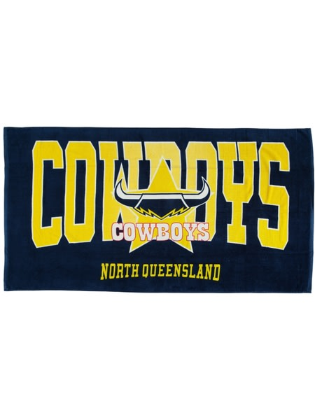 Cowboys NRL Adult Beach Towel