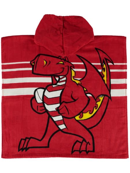 Dragons NRL Youth Hooded Beach Towel