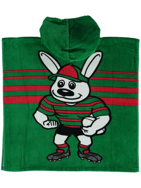 Rabbitohs NRL Youth Hooded Beach Towel
