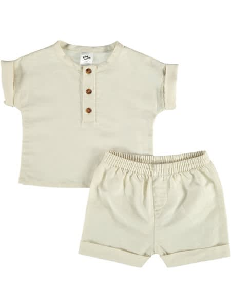 Baby Linen Rich Outfit Set