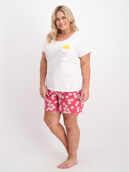 Womens Short Sleeve Pj Set