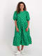 Womens Puff Sleeve Volume Dress
