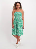 Womens Shirred Bust Dress