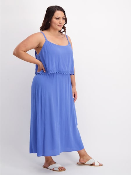 Womens Plus Layered Midi Dress