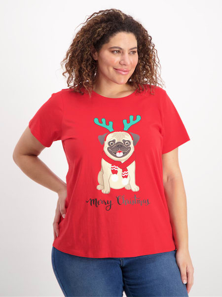 Womens Plus Christmas Tee