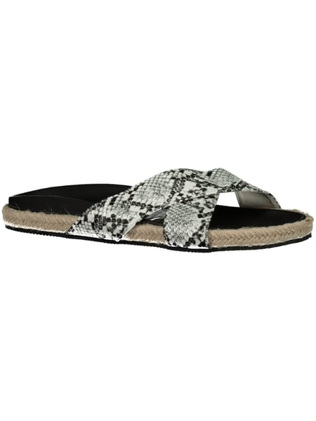 Womens Cross over Espadrille Slide