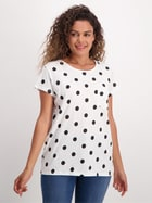 Womens Allover Print Cotton Tee