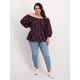 Womens Plus Off Shoulder Puff Sleeve Blouse