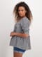 Womens Puff Sleeve Tiered Top