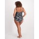 Womens Plus Tie Dye Drawstring Tankini Set