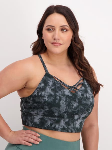 Womens Strappy Sports Crop