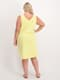 Womens Plus Vee Neck Swing Cotton Dress