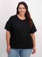 Womens Plus Sequined Tee