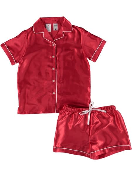 Girls Christmas Satin Pj