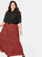 Womens Plus Tiered Maxi Skirt