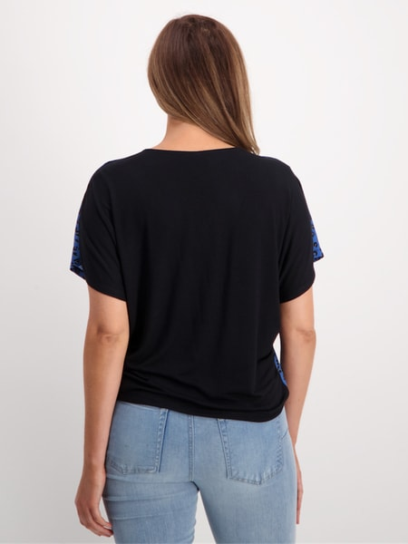 Womens Short Sleeve Button Through Top