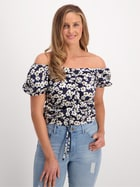 Womens Ruched Sweetheart Top