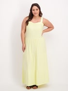 Womens Plus Layered Maxi Knit Dress