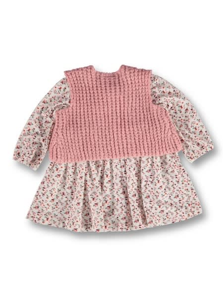 Baby Dress And Gilet Outfit Set