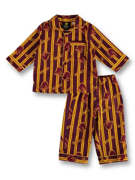 Broncos NRL Youth Flannel Pj Set