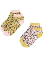 Girls 2 Pack Low Cut Socks