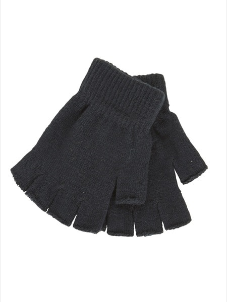 Kids School Fingerless Gloves