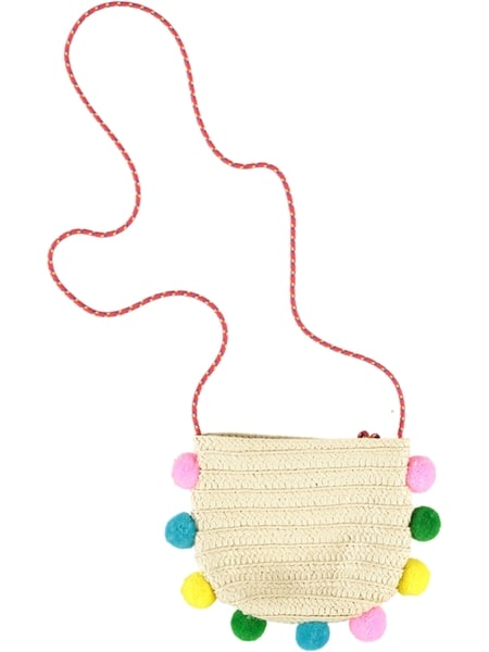 Kids Pom Pom Cross Body Bag