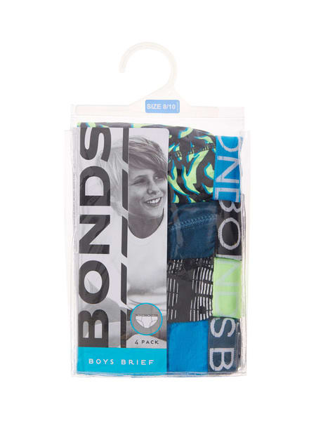 Boys 4 Pack Bonds Brief
