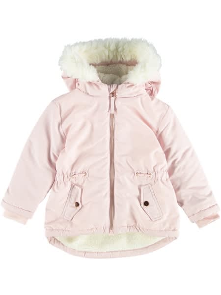 Toddler Girls Fur Trim Puffer Jacket
