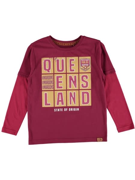 Queensland State of Origin Youth Long Sleeve Tee