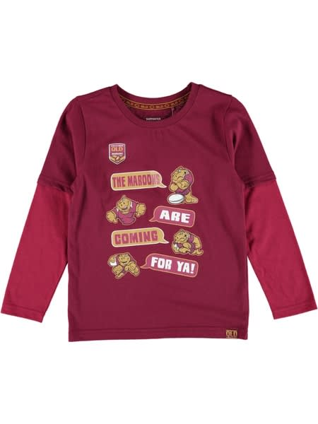 QLD State of Origin Toddler Long Sleeve Tee