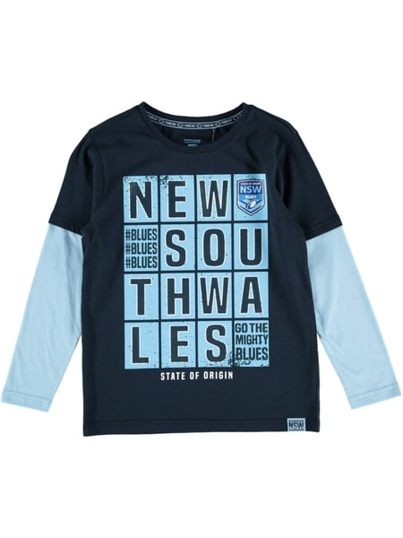 NSW State of Origin Youth Long Sleeve Tee