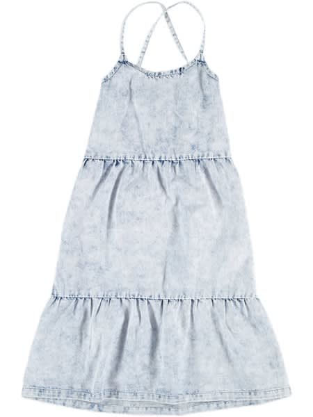 Girls Acid Wash Denim Dress