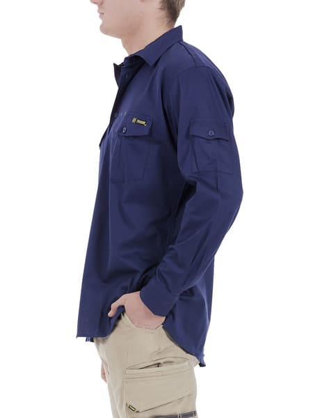 Tradie Long Sleeve Drill Work Wear Shirt